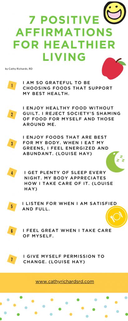 7 Positive Affirmations for Healthier Living Cathyrichardsrd.com